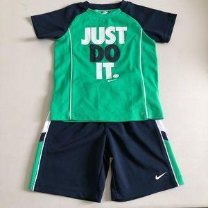 NIKE boys soccer ⚽️ jersey shorts uniform